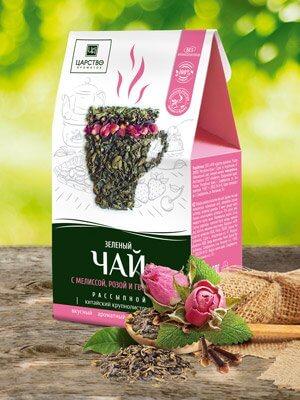 Зеленый чай с мелиссой, розой и гвоздикой