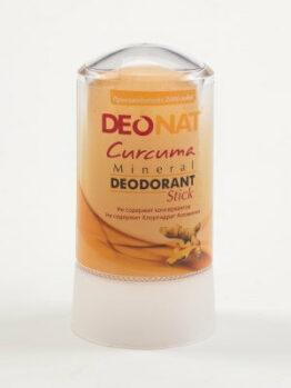 Минеральный дезодорант «DeoNat» с экстрактом куркумы_60 гр.
